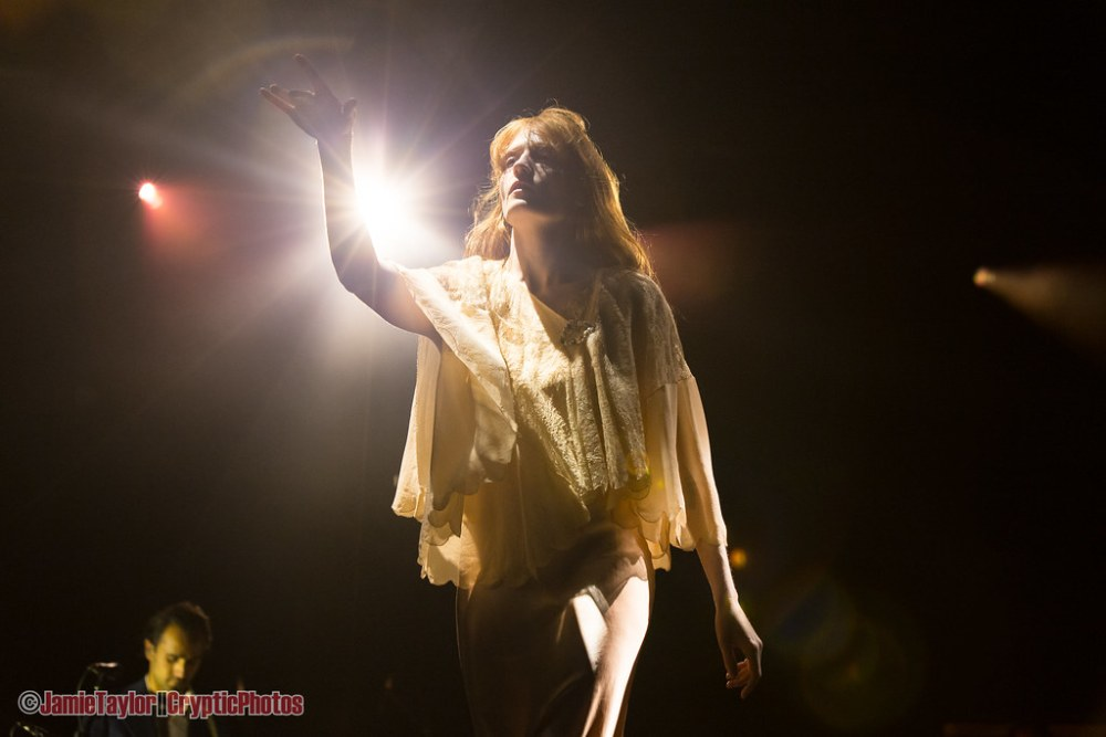 Singer Florence Welch of Florence + The Machine  performing at Skookum Music Festival in Vancouver, BC on September 8th, 2018