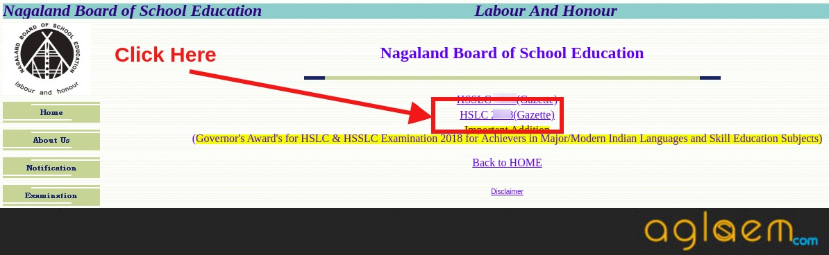 Nagaland HSLC Result 2019 for Class 10