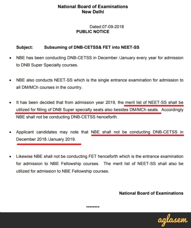 DNB CET SS 2019 [DNB Super Specialty Entrance Exam Scrapped!]