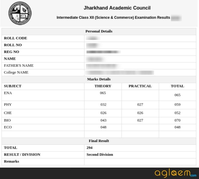 JAC 12th Result 2019
