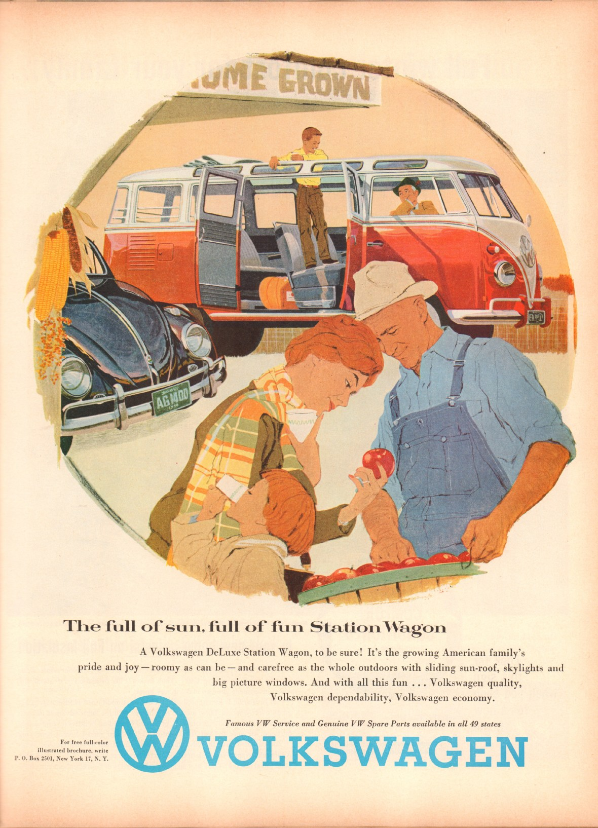 1958 Volkswagen DeLuxe Station Wagon - published in Life - November 10, 1958