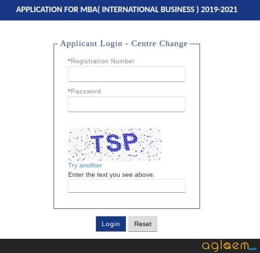 IIFT 2019 Centre Change Login