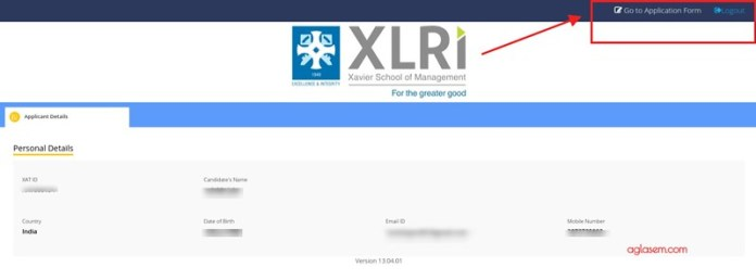 XAT 2019 Application Form