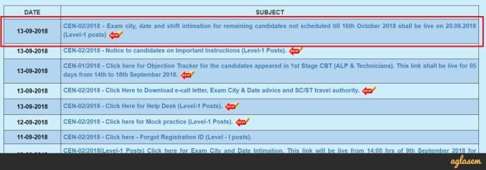 RRB Ajmer Group D Exam Date 2018
