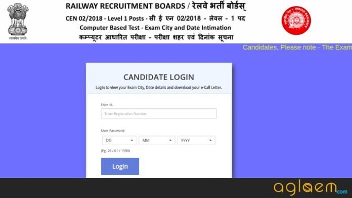 RRB Group D Gorakhpur Admit Card 2018