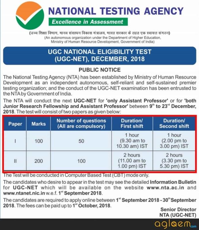 Public notice by NTA