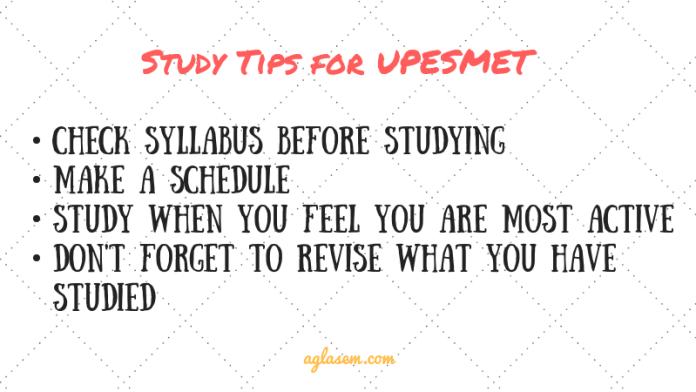 UPESMET study tips