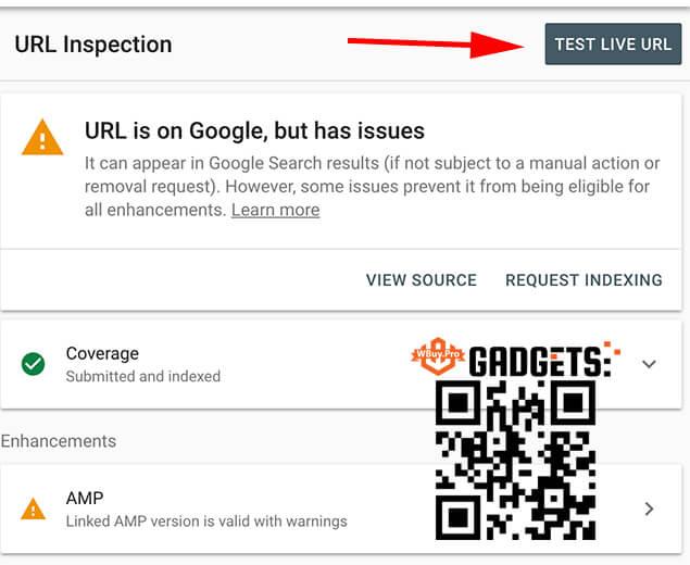 Nếu Link Của Bạn Chưa Lập Chỉ Mục (Non Indexed) Thì Sẽ Thông Báo Lỗi Như Hình