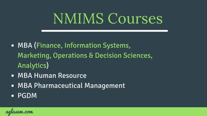 NMIMS MBA FEE 2019