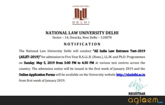 AILET 2019 Exam Date Announced