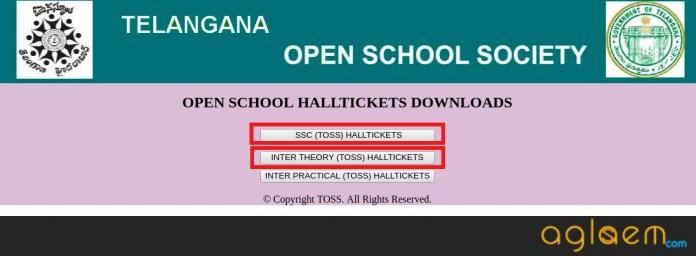 Telangana Open School Hall Ticket 2018