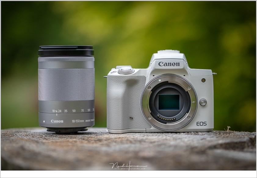De Canon EOS M50 met een prachtig allround objectief.