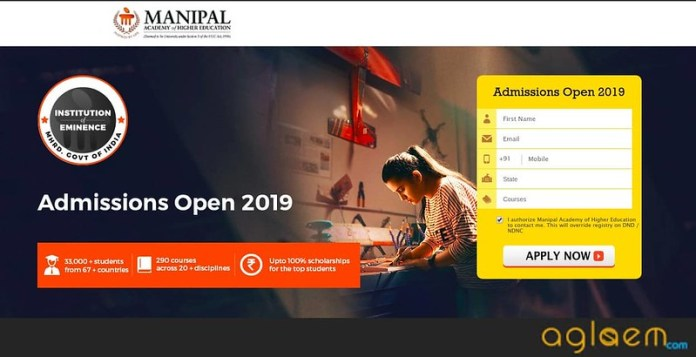 Manipal University B.Arch Admission 2019 registration