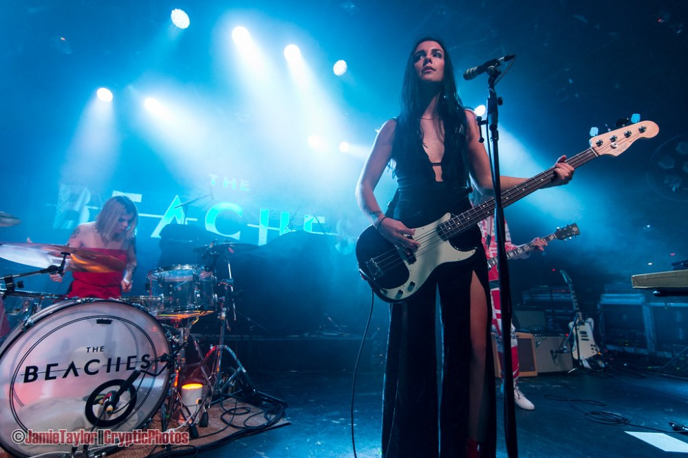 Musician Jordan Miller of The Beaches performing at The Commodore Ballroom in Vancouver, BC on November 3rd, 2018