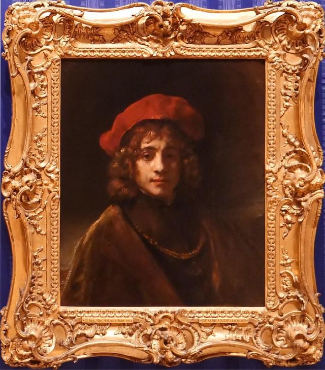Autoritratto con berretto nero. Rembrandt ha dipinto un certo numero di  autoritratti durante la sua carriera. L immagine presente 759d346b3be2