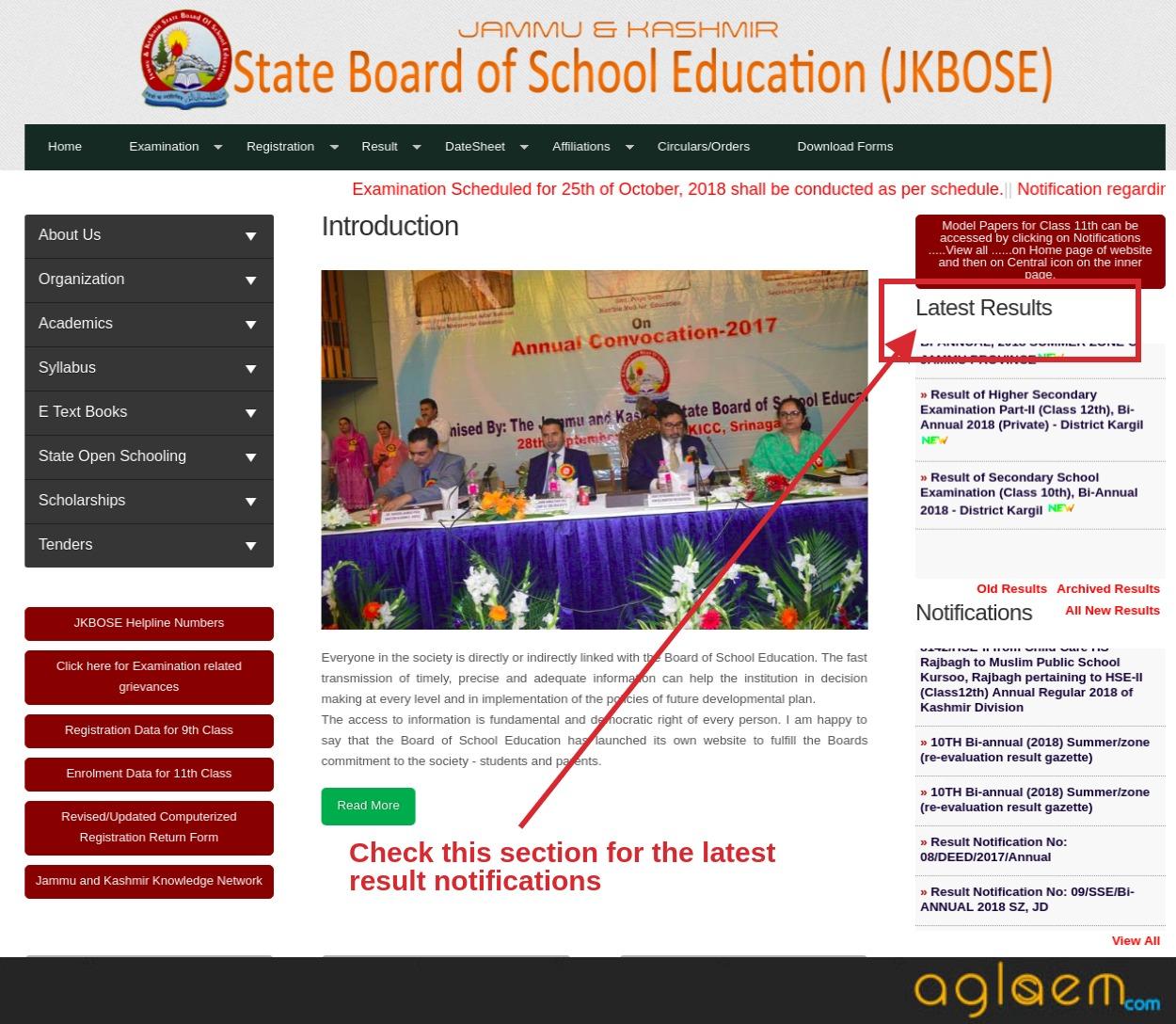 JKBOSE 12th Result 2018 for Annual Regular Session of Kashmir Division