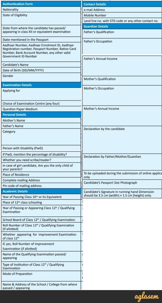 NEET 2019 Application Form / Registration   Apply here