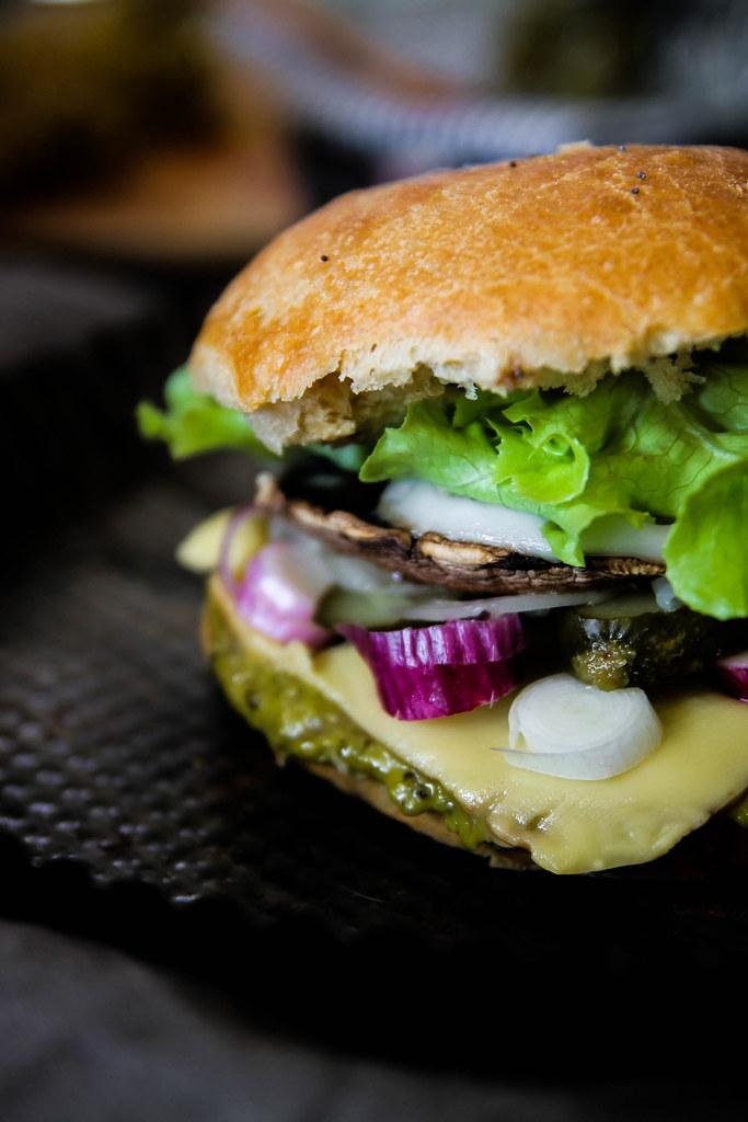 Portobello burger recette