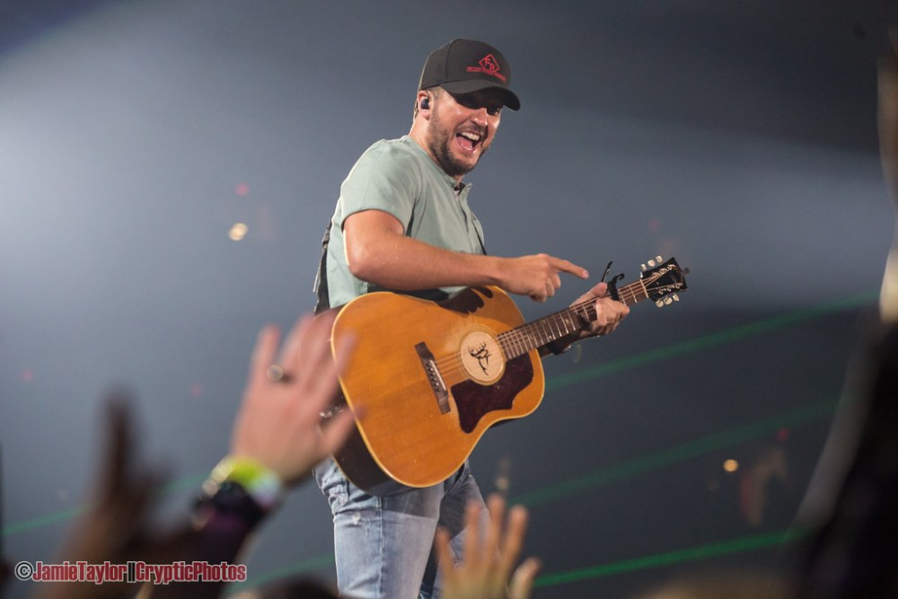 Country musician Luke Bryan performing at BC Place Stadium in Vancouver, BC on October 13th, 2018