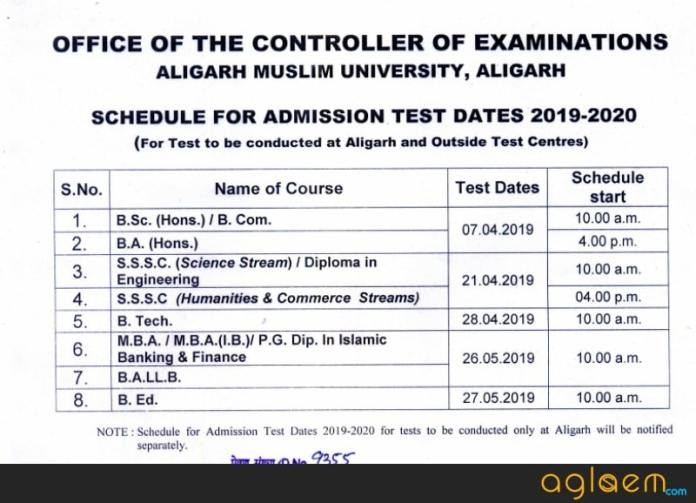 AMU 2019 SSSC Exam on 21 Apr 2019
