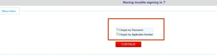 Options to recover CMAT 2020 Login Credentials