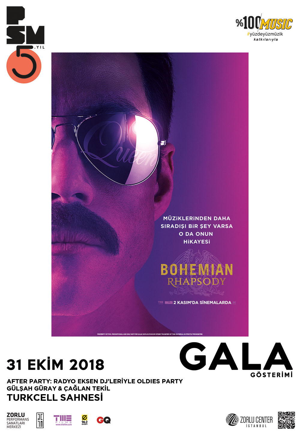 Bohemian Rhapsody gala gösterimi Zorlu PSMde gerçekleşti 1