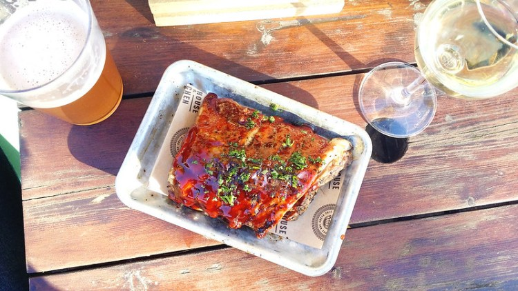 Gluten free beer and sticky BBQ ribs from Brewhouse & Kitchen pub in Highbury   My Gluten Free Islington Guide   North London