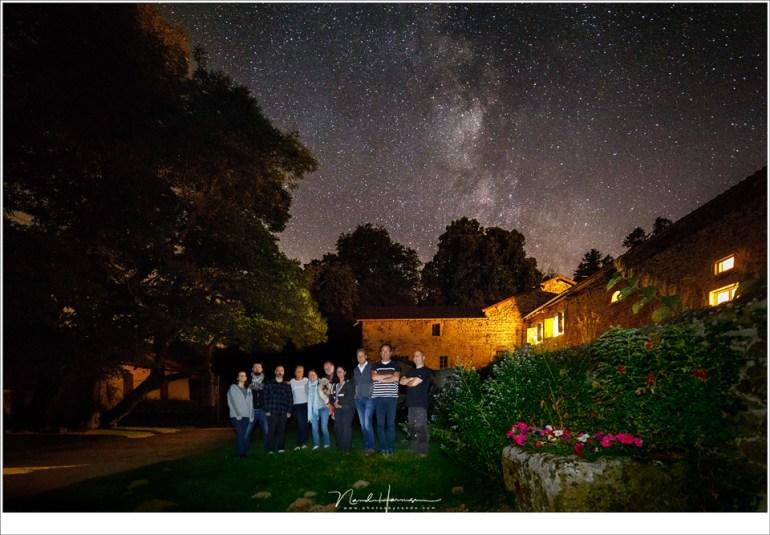 De groep van herfst 2018 onder de Melkweg bij La Fougeraie
