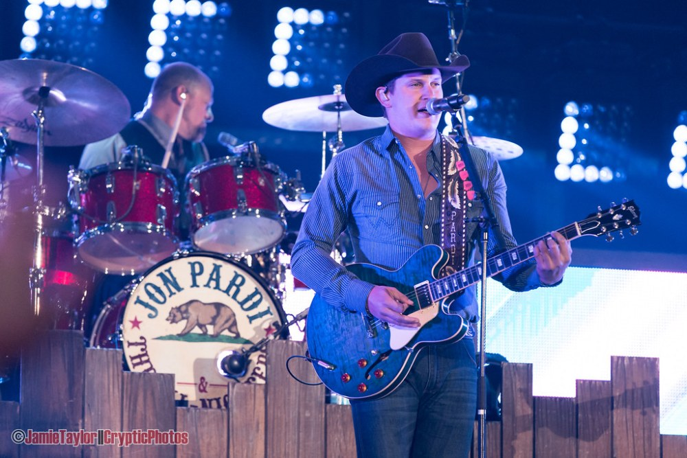 Country musician Jon Pardi performing at BC Place Stadium in Vancouver, BC on October 13th, 2018