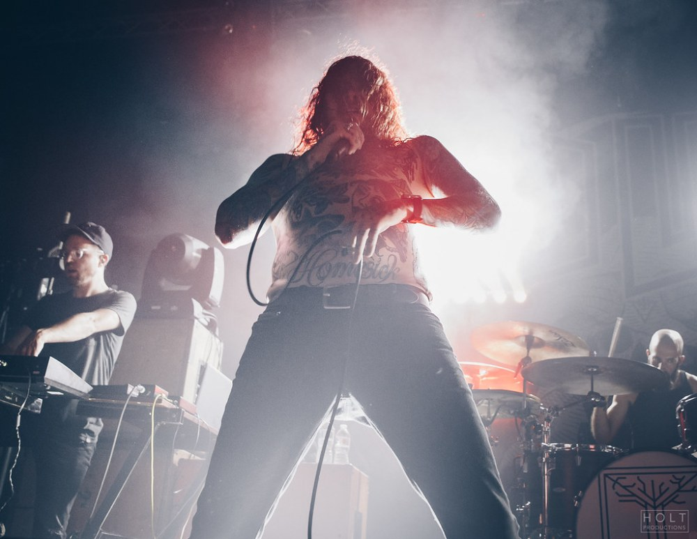 band The Devil Wears Prada performing at Rickshaw Theatre in Vancouver, BC on September 28th 2018