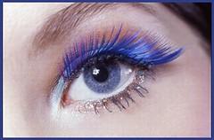 the blue mascara