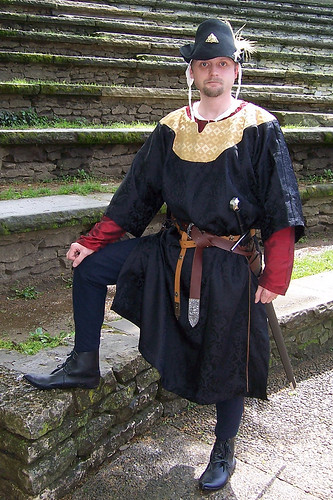 In 13th Century Style Medieval Garb At A Little Medieval