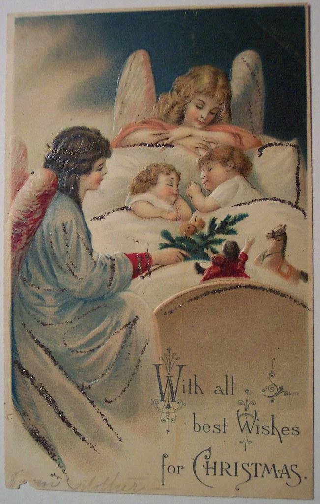 Vintage Christmas Postcard Angel Dave Flickr
