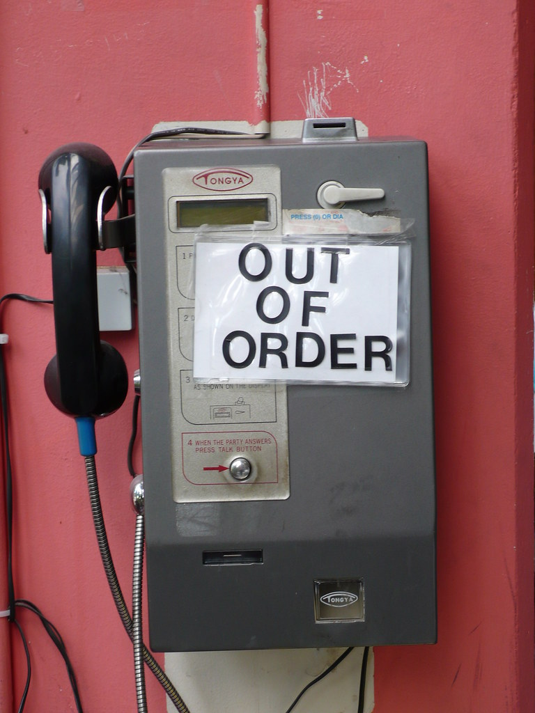 OUT OF ORDER Payphone At A Laundromat In Portland OR