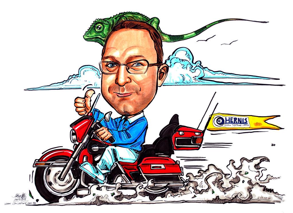 Harley Davidson Caricature