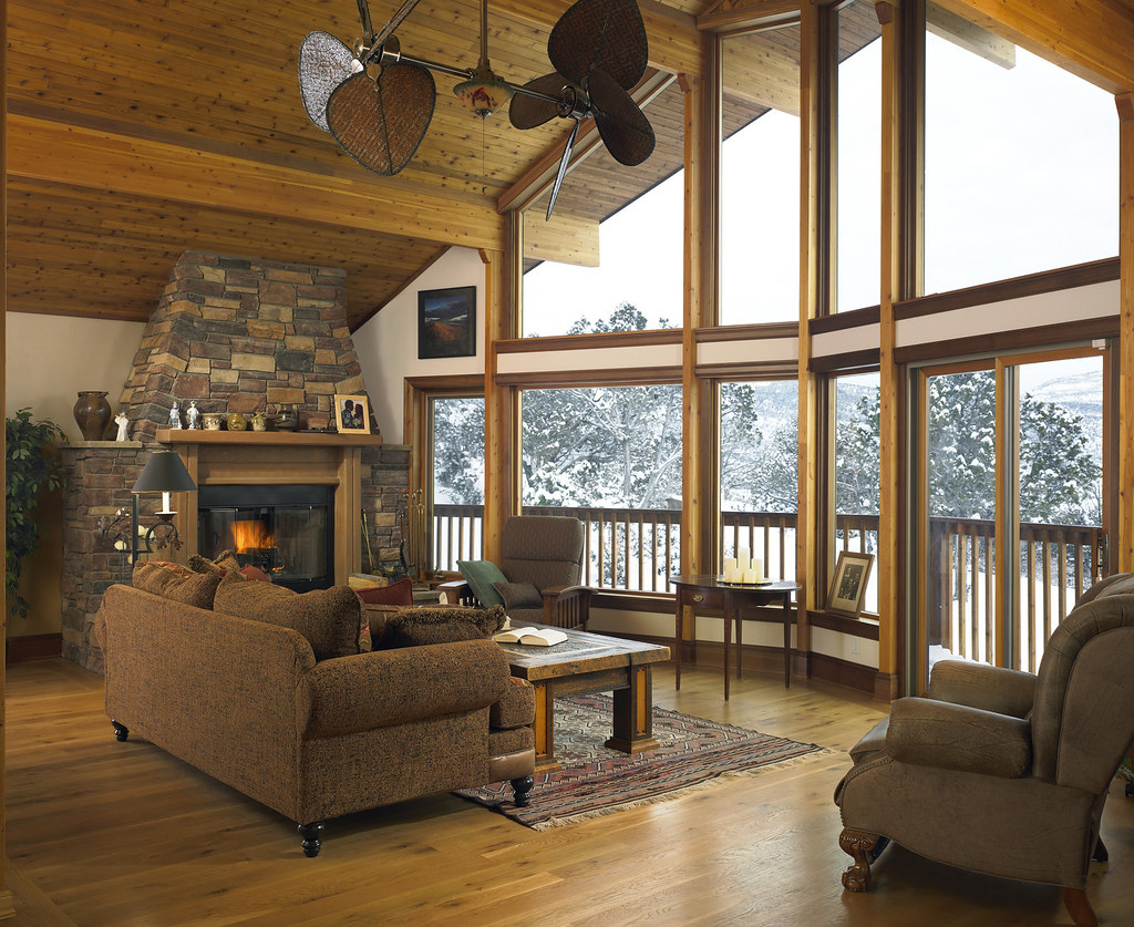 Great Room Of A Lindal Cedar Home In Colorado This