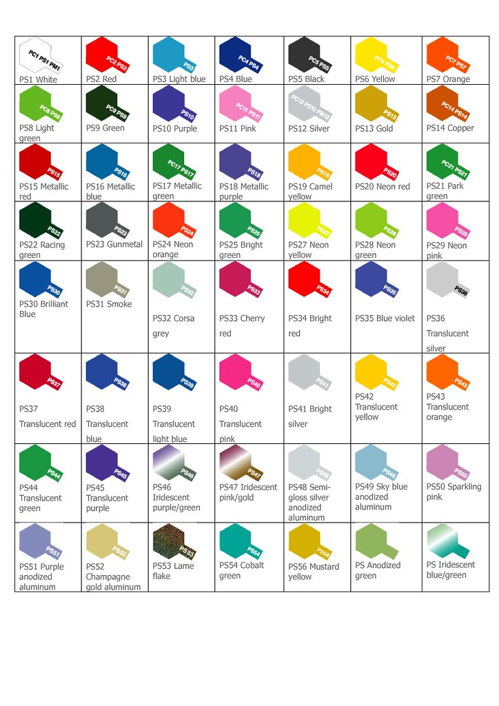 tamiya ps color chart 1 tamiya color chart crazy mav flickr