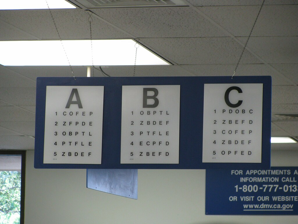 Dmv Eye Exam Chart Printable