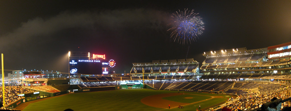 Friday Night Fireworks At Nationals Park Many Friday