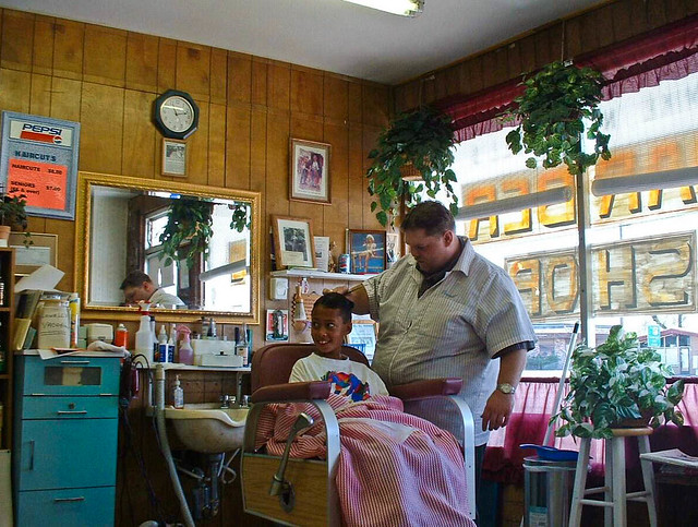 My Barber My Barber In His Old Fashioned Barber Shop