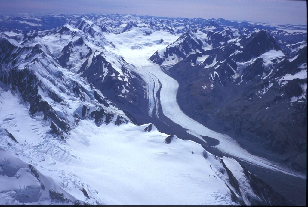Tasman Glacier From Mt Cook Aoraki Summit View Over The