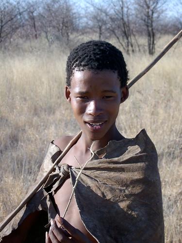 Bushman Young Boy Ghanzi Botswana Quick Shot Made