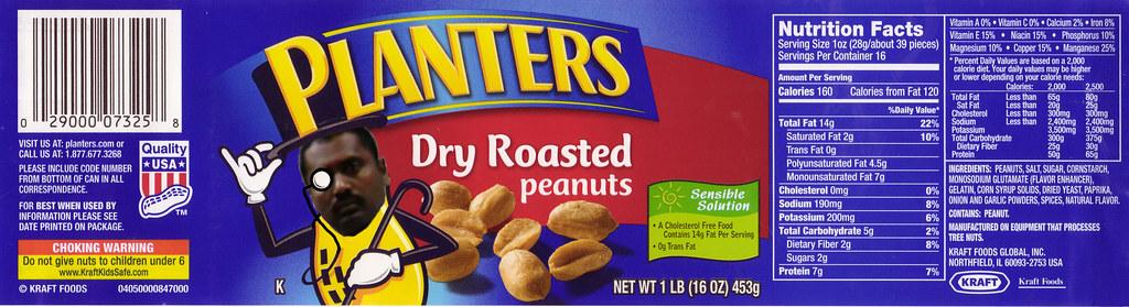 Custom Planters Peanuts Label Having Caught My Peanut