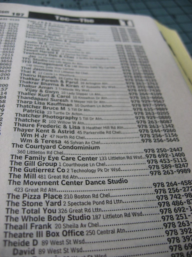 The Phone Book Listings I Didn T Know Phone Books Listed