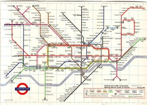 London Underground diagram of lines | This map from 1968