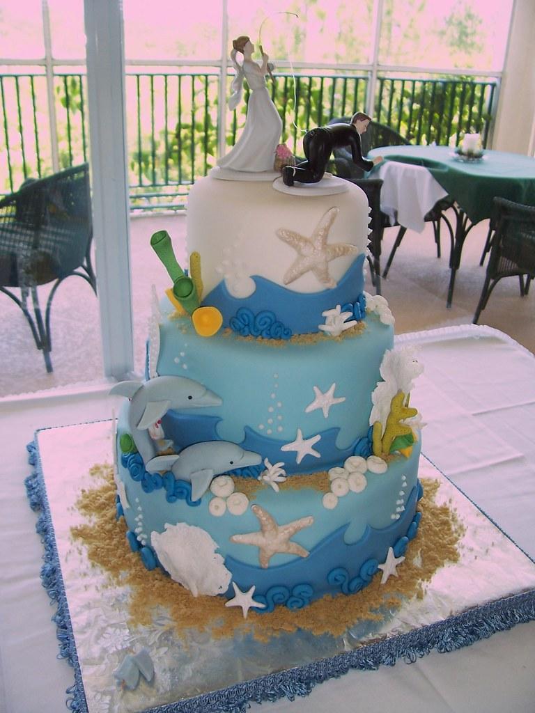 Undersea Wedding Cake I Love Making Untraditional