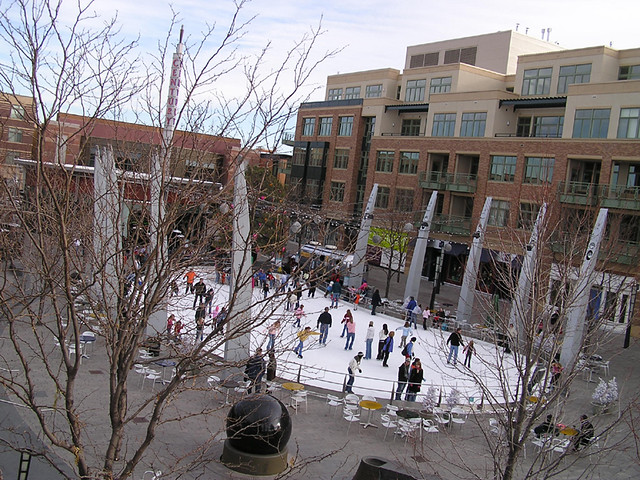 Ice Rink At Belmar Lakewood Colorado Christmas At The