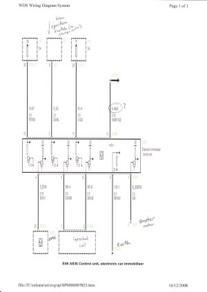EWS 3 Engine Immobiliser wiring diagram   Tim Brierley