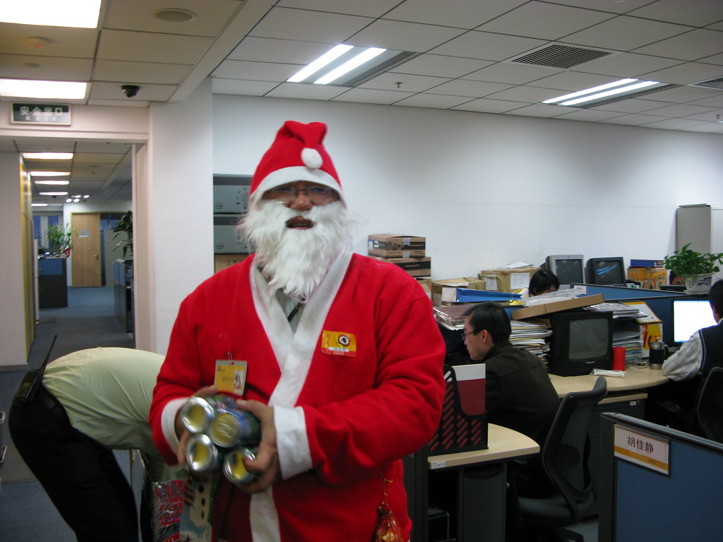 Santa In Office Its Christmas Santa Claus Comes To