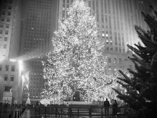 Rockefeller Plaza Christmas Tree 1 New York City